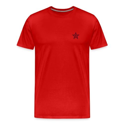 Starlight 1 - Mørkerød - Premium T-skjorte for menn