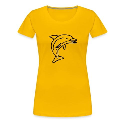 Delfin - Premium-T-shirt dam