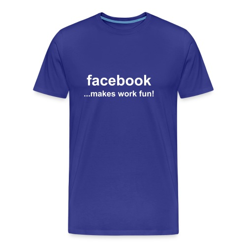 Facebook ...makes work fun - Premium T-skjorte for menn