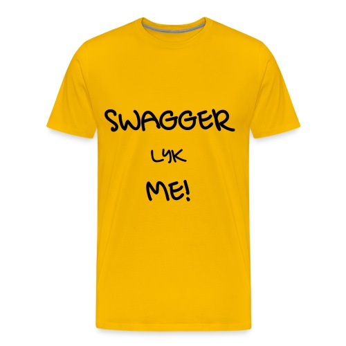 SWAGGER LYK ME YELLOW/BLACK - Men's Premium T-Shirt