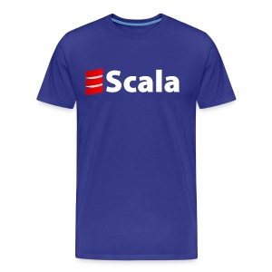 Men's Colour T-Shirt with White Scala Logo - Men's Premium T-Shirt