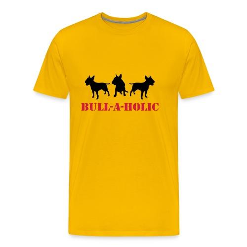 Mens 'Bull-a-holic' T-Shirt - Men's Premium T-Shirt