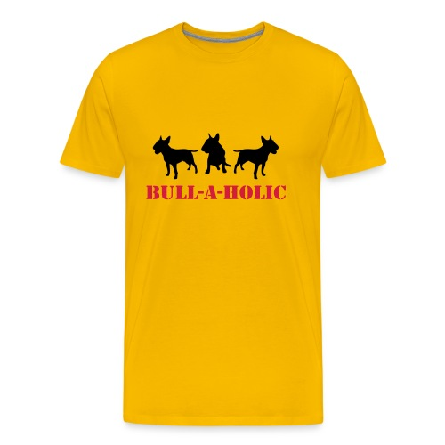 Mens 'Bull-a-holic' T-Shirt - Men's Premium T-Shirt
