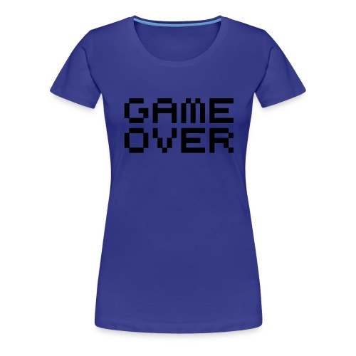 Blue Game Over Tee - Women's Premium T-Shirt
