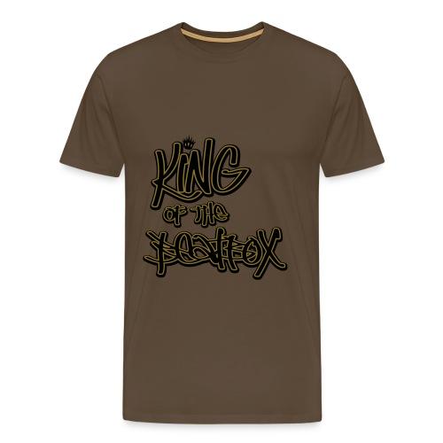 Brown King of the Beatbox T-Shirts - Men's Premium T-Shirt