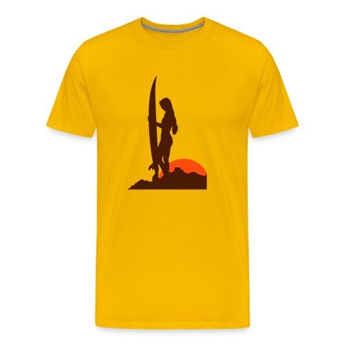 Surfergirl - Premium T-skjorte for menn
