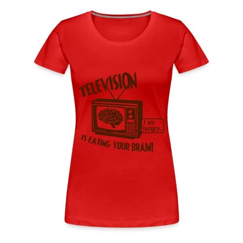 Television Girlie T-shirt - Women's Premium T-Shirt