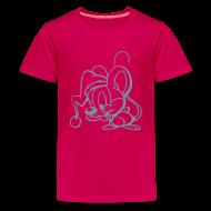 T-Shirts ~ Teenager Premium T-Shirt ~ Maus (silber) - Kinder T Shirt klassisch