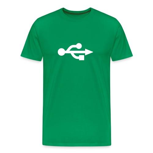 USB (Verde - Hombre) - Camiseta premium hombre
