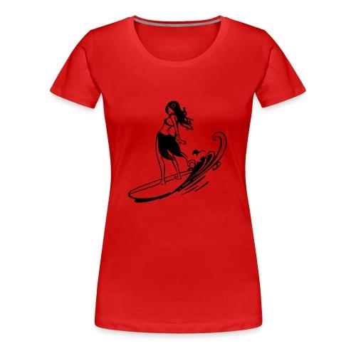 Surfeur girl - T-shirt Premium Femme