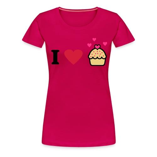 I love cupcakes - Naisten premium t-paita
