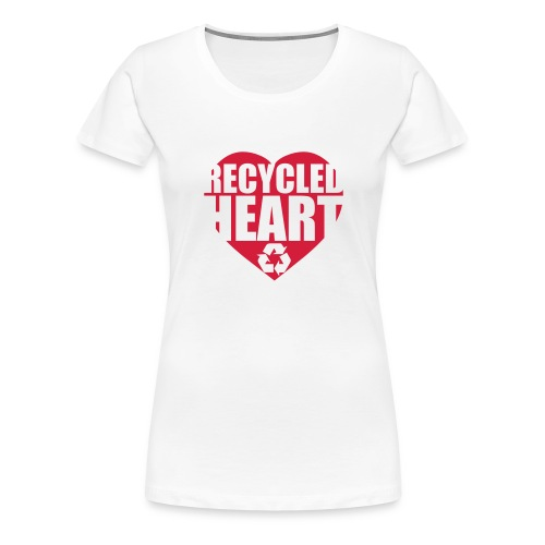 Recycled Heart Tee (White) Womens - Women's Premium T-Shirt