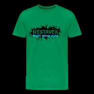T-Shirts ~ Männer Premium T-Shirt ~ Mann T-Shirt Restavek Splash 03blau © by kally ART®
