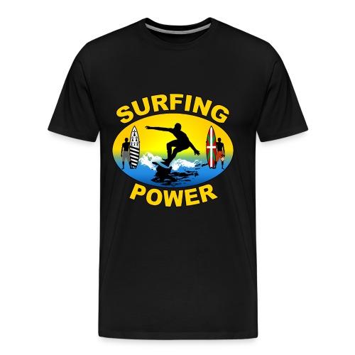 Basque Breizh surfing power - Men's Premium T-Shirt