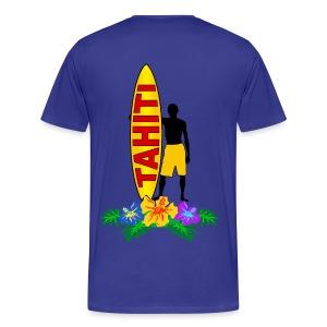 Tahiti surfing - Men's Premium T-Shirt