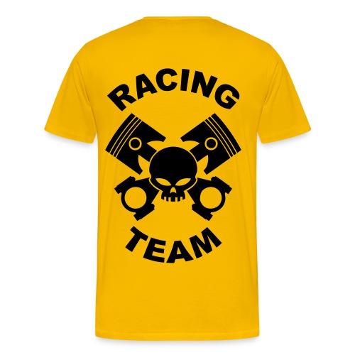 Pistons, rods and skull racing team - Men's Premium T-Shirt