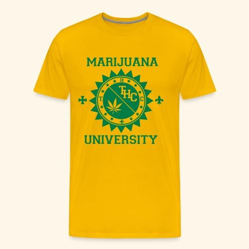 marijuana university t-shirt - T-shirt Premium Homme