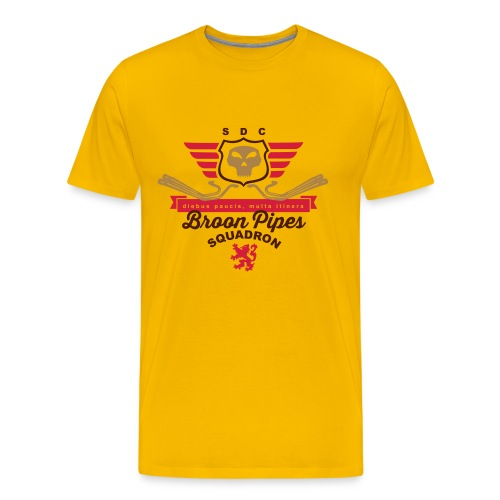 Broon pipes (yellow) - Men's Premium T-Shirt