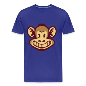Monkey cartoon face - Camiseta premium hombre
