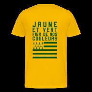 Tee shirts ~ T-shirt Premium Homme ~ Tee Shirt Jaune et Vert