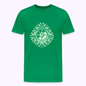 Hunab-Ku-DNA-Tree  Glow-in-the-Dark - Mannen Premium T-shirt