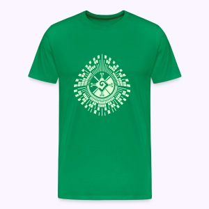 Hunab-Ku-DNA-Tree  Glow-in-the-Dark - Mannen Premium T-shirt