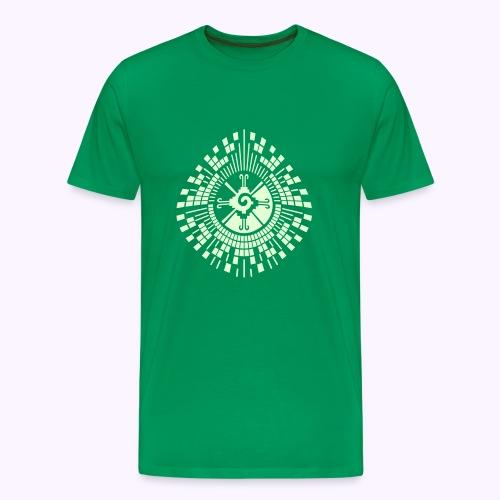 Hunab-Ku-DNA-Tree  Glow-in-the-Dark - Herre premium T-shirt