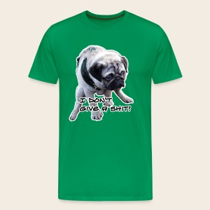 Mops T-Shirt I don`t give a shit - Männer Premium T-Shirt