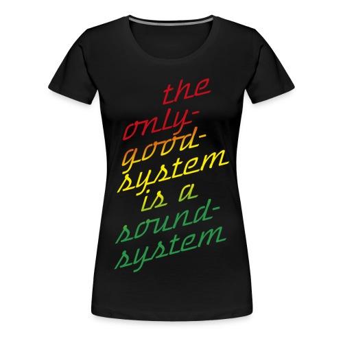 the system - Frauen Premium T-Shirt
