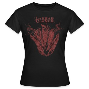 Larman Clamor Alligator Heart (dark design) (brown) - Women's T-Shirt