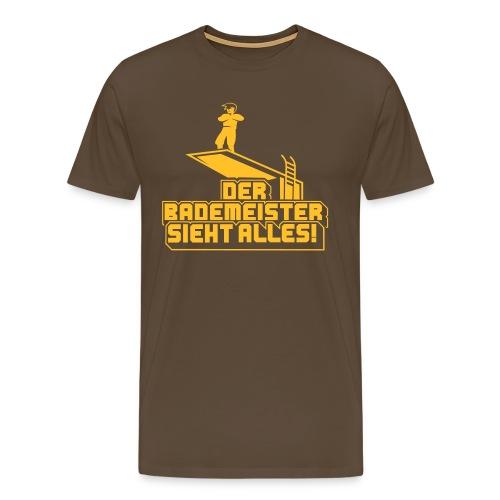 Der neue Bademeister sieht auch alles! - Männer Premium T-Shirt