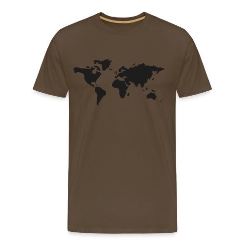Weltkarte - Männer Premium T-Shirt
