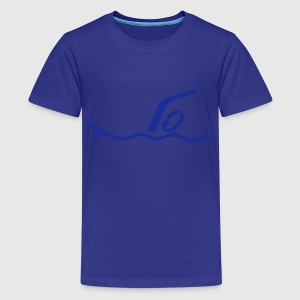 Schwimmen T-Shirts - Teenager Premium T-Shirt
