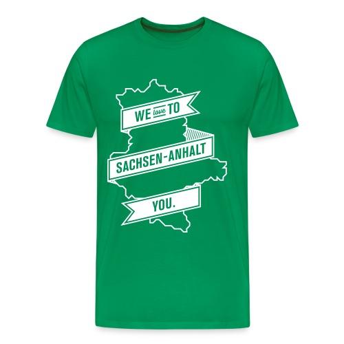 We love to Sachsen-Anhalt you. (2) - Männer Premium T-Shirt