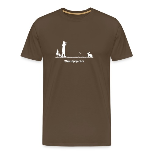 fun tier t-shirt bunnychecker bunny checker hase jäger bayern party - Männer Premium T-Shirt