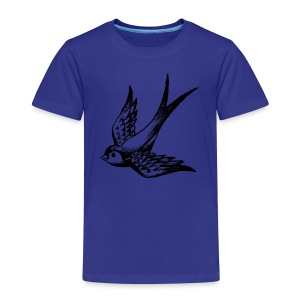 tier t-shirt schwalbe swallow vogel bird wings flügel retro - Kinder Premium T-Shirt
