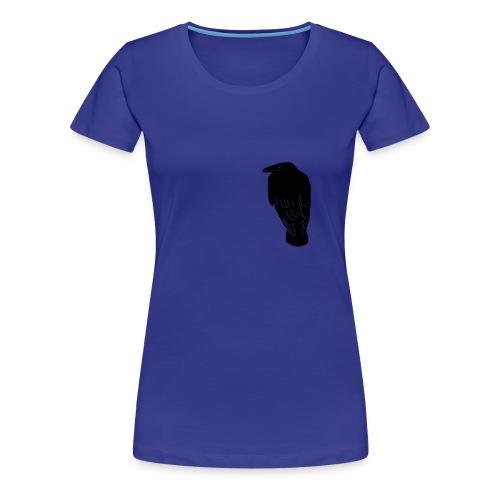 tier t-shirt rabe krähe raven crow hugin gothic - Frauen Premium T-Shirt