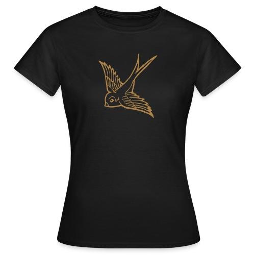 tier t-shirt schwalbe swallow vogel bird wings flügel retro - Frauen T-Shirt