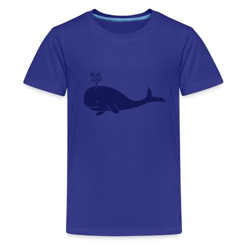 tier t-shirt wal whale delphin walfisch blauwal hai blume T-Shirts - Teenager Premium T-Shirt