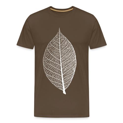 t-shirt blatt laub leaf leaves herbst skelett baum ast natur - Männer Premium T-Shirt