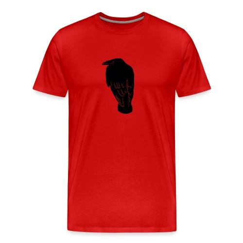 tier t-shirt rabe krähe raven crow hugin gothic - Männer Premium T-Shirt