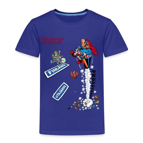 2013 World Fart Championships t-paita lapsille, vapaavalintainen väri - Lasten premium t-paita