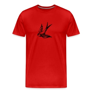 tier t-shirt schwalbe swallow vogel bird wings flügel retro - Männer Premium T-Shirt