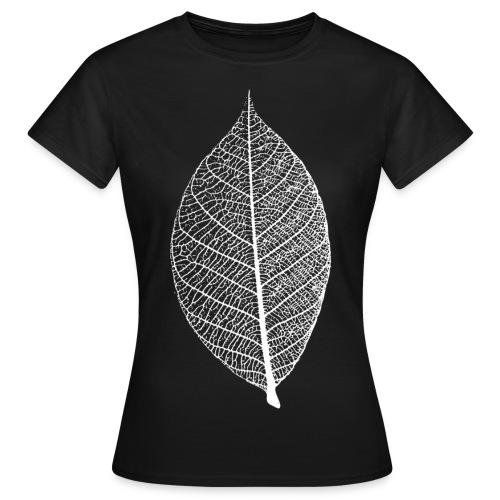 t-shirt blatt laub leaf leaves herbst skelett baum ast natur - Frauen T-Shirt