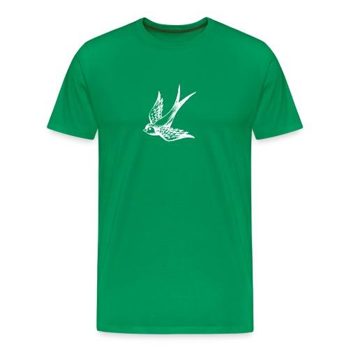 tier t-shirt schwalbe swallow vogel bird wings flügel retro - Männer Premium T-Shirt