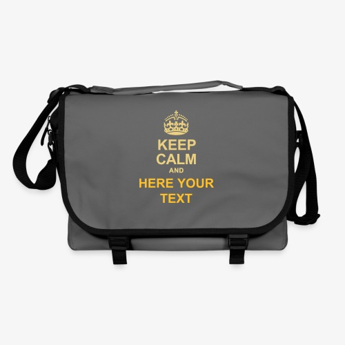 KEEP CALM AND... Write your text! - Shoulder Bag