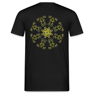 Triplag liguid ink and mandala - Men's T-Shirt