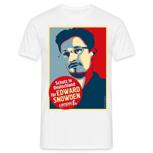 Schutz in Deutschland für EDWARD SNOWDEN - Männer T-Shirt