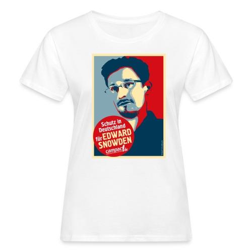 Schutz in Deutschland für EDWARD SNOWDEN - Frauen Bio-T-Shirt