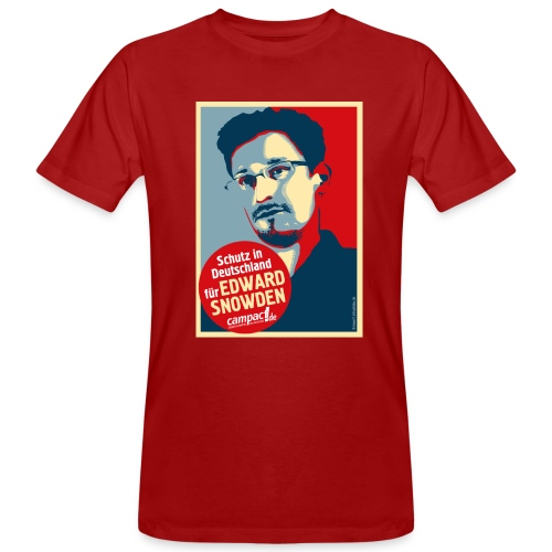 Schutz in Deutschland für EDWARD SNOWDEN - Männer Bio-T-Shirt